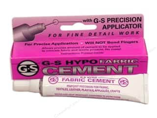 Glues/Adhesives $1 - $3: Beadalon G-S Hypo Cement Fabric 1/3 oz.