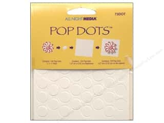 "Glues Adhesives & Tapes: All Night Media Pop Dots 1/2"" 104 pc"