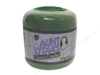 Yarn, Knitting, Crochet & Plastic Canvas Pearl Cotton: Aunt Lydia's Classic Cotton Crochet Thread Size 10 Myrtle Green