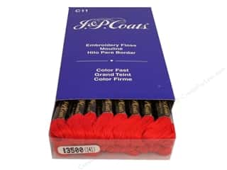 Christmas Length: J & P Coats Six-Strand Embroidery Floss #3500 Christmas Red (24 skeins)