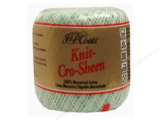 J&P Coats Knit-Cro-Sheen Crochet Thread Shaded Greens