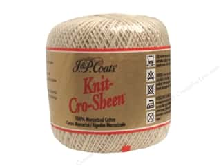j & p coats luster sheen crochet thread: J&P Coats Knit-Cro-Sheen Crochet Thread Ecru