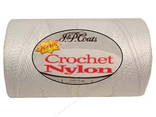 J&P Coats Crochet Nylon 150 yd White
