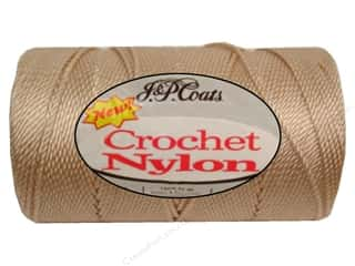 J&P Coats Crochet Nylon 150 yd Natural