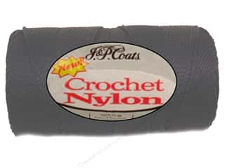 J&P Coats Crochet Nylon 150 yd Black