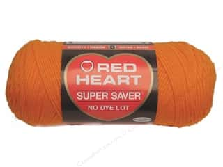 Hearts Hot: Red Heart Super Saver Yarn #0254 Pumpkin 7 oz.