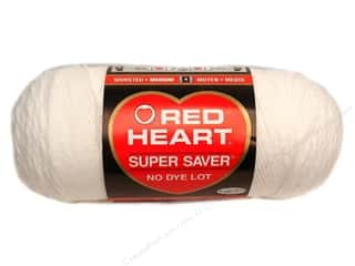 Christmas Yarn & Needlework: Red Heart Super Saver Yarn #0311 White 7 oz.