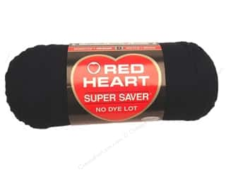 Red Heart Super Saver Yarn #0312 Black 7 oz.