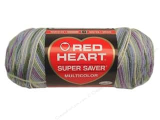 Multi Colored Yarn: Red Heart Super Saver Yarn Watercolor 5 oz.