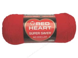 Yarn Red Heart Super Saver Yarn: Red Heart Super Saver Yarn #0319 Cherry Red 7 oz.