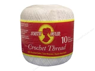 Yarn, Knitting, Crochet & Plastic Canvas Pearl Cotton: South Maid Crochet Cotton Thread Size 10 #1 White
