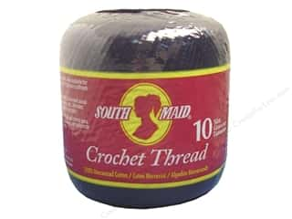 South Maid Crochet Cotton Thread Size 10 Black