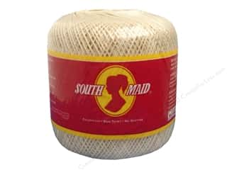 Yarn, Knitting, Crochet & Plastic Canvas Pearl Cotton: South Maid Crochet Cotton Thread Size 10 #429 Ecru