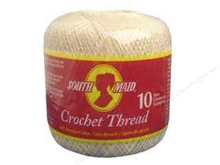 Yarn, Knitting, Crochet & Plastic Canvas Pearl Cotton: South Maid Crochet Cotton Thread Size 10 #430 Cream