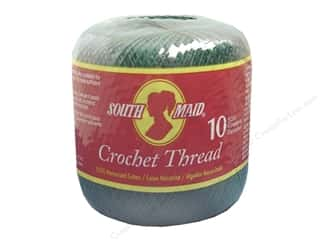 Yarn, Knitting, Crochet & Plastic Canvas Pearl Cotton: South Maid Crochet Cotton Thread Size 10 #449 Forest Green