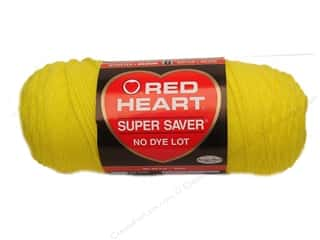 Red Heart Super Saver Yarn #0324 Bright Yellow 7 oz.