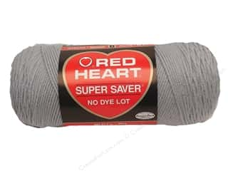 Light Worsted yarn: Red Heart Super Saver Yarn #0341 Light Grey 364 yd.