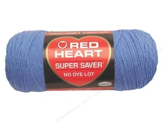 Light Worsted yarn: Red Heart Super Saver Yarn Lt Periwinkle 7 oz.