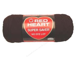 Yarn & Needlework Brown: Red Heart Super Saver Yarn #0365 Coffee 7 oz.