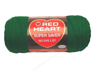 Christmas Yarn & Needlework: Red Heart Super Saver Yarn #0368 Paddy Green 7 oz.