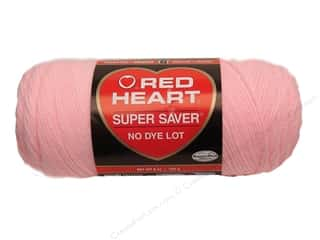 Red Heart Super Saver Yarn #0373 Petal Pink 7 oz.
