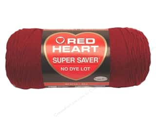 Dyes Burgundy: Red Heart Super Saver Yarn #0376 Burgundy 7 oz.