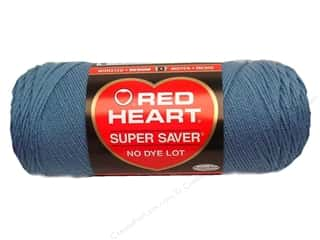 Yarn & Needlework Red Heart Super Saver Yarn: Red Heart Super Saver Yarn #0382 Country Blue 7 oz.