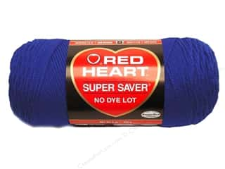 Yarn & Needlework Blue: Red Heart Super Saver Yarn #0385 Royal 7 oz.