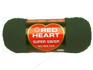 Hearts Hot: Red Heart Super Saver Yarn #0389 Hunter Green 7 oz.