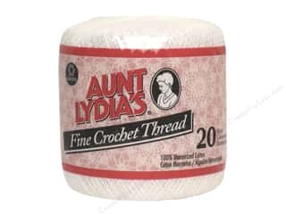 Threads 201 - 999 Yards: Aunt Lydia's Fine Crochet Thread Size 20 #201 White