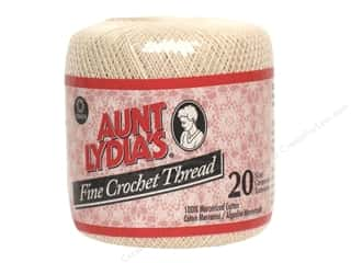 Plastics Weekly Specials: Aunt Lydia's Fine Crochet Thread Size 20 #226 Natural