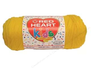 Light Worsted yarn: Red Heart Kids Yarn Yellow