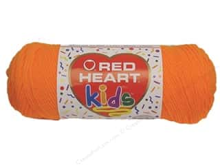 Light Worsted yarn: Red Heart Kids Yarn Orange