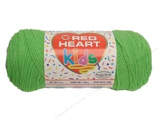 Light Worsted yarn: Red Heart Kids Yarn Lime
