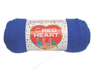 Light Worsted yarn: Red Heart Kids Yarn Blue