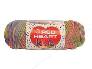Light Worsted yarn: Red Heart Kids Yarn Sherbet