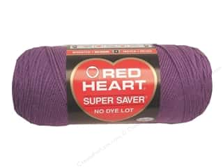 Yarn Medium Weight: Red Heart Super Saver Yarn #0528 Medium Purple 7 oz.