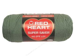 Light Worsted yarn: Red Heart Super Saver Yarn #0631 Light Sage 364 yd.