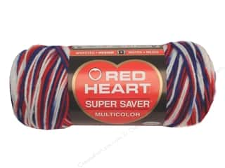 worsted weight yarn: Red Heart Super Saver Yarn #0938 Stars & Stripes 244 yd.