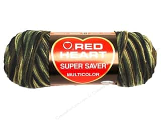Yarn & Needlework Red Heart Super Saver Yarn: Red Heart Super Saver Yarn #0971 Camouflage 5 oz.