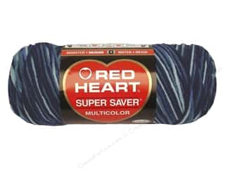 Red Heart Super Saver Yarn Shaded Dusk 5 oz.