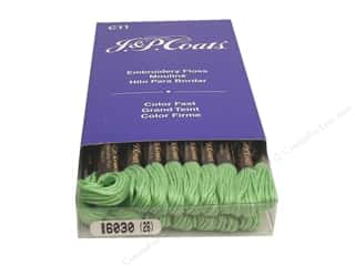 J & P Coats Six-Strand Embroidery Flosss Nile Green Light (24 skeins)