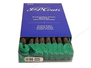 J&P Coats: J & P Coats Six-Strand Embroidery Floss #6186 Aquamarine Dark (24 skeins)