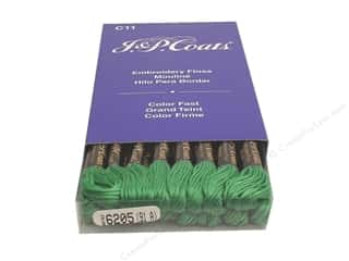J &amp; P Coats Six-Strand Embroidery Flosss Emerald Green Medium (24 skeins)