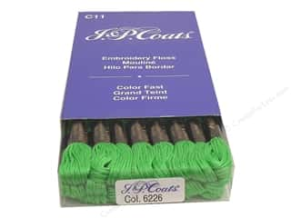 J&P Coats: J & P Coats Six-Strand Embroidery Floss #6226 Kelly Green (24 skeins)