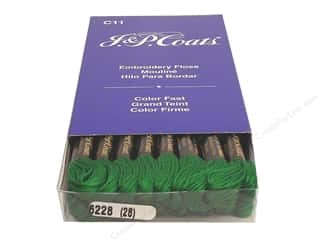 Sewing & Quilting Floss: J & P Coats Six-Strand Embroidery Floss #6228 Christmas Green (24 skeins)
