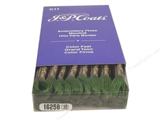 Embroidery Green: J & P Coats Six-Strand Embroidery Floss #6258 Willow Green (24 skeins)