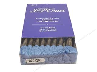 J&P Coats: J & P Coats Six-Strand Embroidery Floss #7030 Blue (24 skeins)