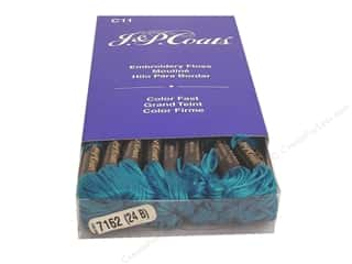 Coats & Clark Cotton Floss: J & P Coats Six-Strand Embroidery Floss #7162 Wedgwood Medium (24 skeins)