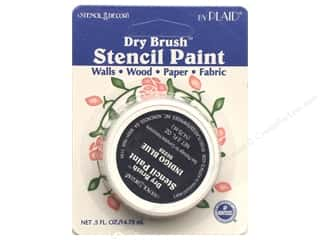 Plaid Dry Brush Stencil Paint .5oz Indigo Blue (2 packages)